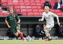 Iver Fossum (AaB) og Victor Nelsson (FC København) under kampen i 3F Superligaen mellem FC København og AaB den 17. juni 2020 i Telia Parken, København (Foto: Claus Birch).