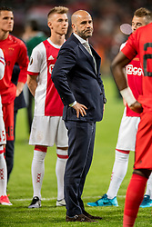 24-05-2017 SWE: Final Europa League AFC Ajax - Manchester United, Stockholm<br /> Finale Europa League tussen Ajax en Manchester United in het Friends Arena te Stockholm / Een teleurgestelde Peter Bosz