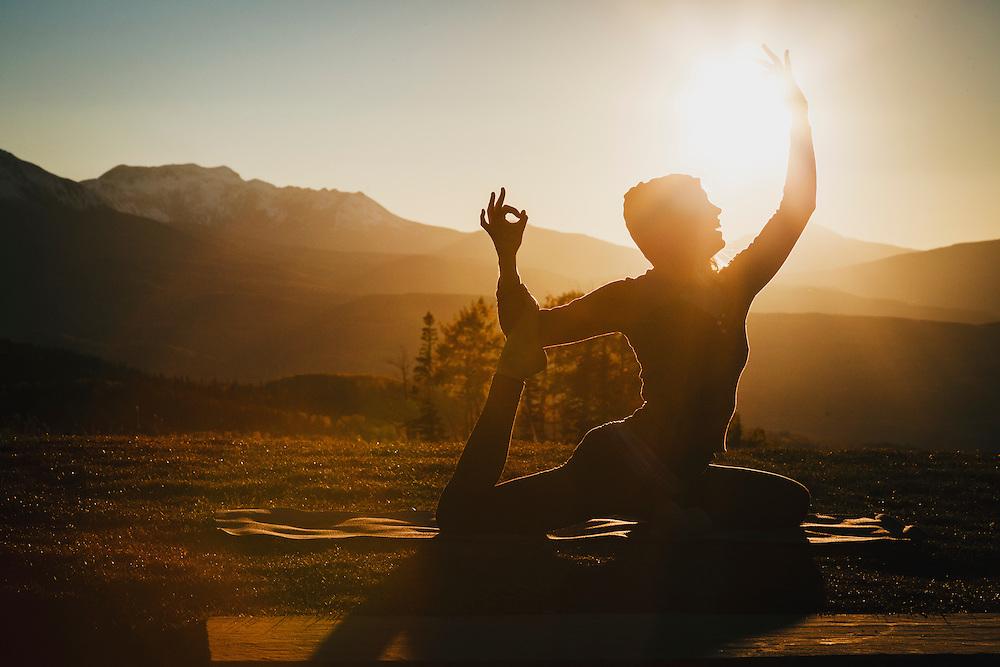 Andrea Ball practices yoga in the San Juan Mountains of Colorado.