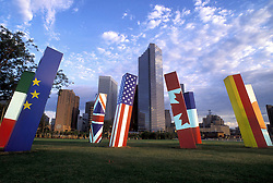 Stock photo of the Light Sticks Located at Houston Intercontinental Airport (Constructed for Houston Economic Summit)
