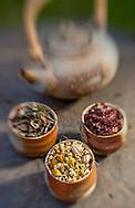 Pertiwi: Pu'erh tea, Lemongrass, Adas<br /> Apah: Rosella, Coriander, Sencha<br /> Teja: Cinnamon, Ginger, Pepper, Clove<br /> Bayu: White tea, Cardamom, Spearmint<br /> Akasa: Chamomile, Vanilla, Cardamom<br /> Headline:Fivelements Signature Blends