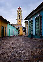 TRINIDAD, CUBA - CIRCA JANUARY 2020: Street of Trinidad historic center.