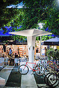 South Beach's bustling Lincoln Road pedestrian mall  features Space-Age, Miami Modern (MiMo) structures like this one designed by architect Morris Lapidus in 1959.