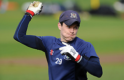 Gloucestershire's Cameron Herring - Photo mandatory by-line: Harry Trump/JMP - Mobile: 07966 386802 - 30/03/15 - SPORT - CRICKET - Pre Season Fixture - T20 - Somerset v Gloucestershire - The County Ground, Somerset, England.