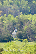 66745-04303 Methodist Church in spring from overview along Rich Mountain Road, Great Smoky Mountains National Park, TN