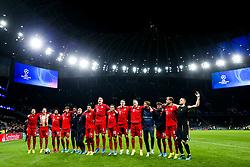 Bayern Munich celebrate after a 2-7 win - Rogan/JMP - 01/10/2019 - FOOTBALL - Tottenham Hotspur Stadium - London, England - Tottenham Hotspur v Bayern Munich - UEFA Champions League Group B.