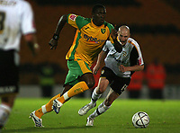 Photo: Paul Thomas.<br /> Port Vale v Norwich City. Carling Cup. 24/10/2006.<br /> <br /> Dickson Etuhu (L) of Norwich gets past Danny Whitaker.