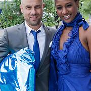 NLD/Amsterdam/20120721 - Huwelijk Berget Lewis en Sebastiaan van Rooijen, Edsilia Rombley, partner Tjeerd Oosterhuis