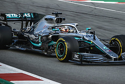February 19, 2019 - Barcelona, Catalonia, Spain - LEWIS HAMILTON (GBR) from team Mercedes drives in his in his W10 during day two of the Formula One winter testing at Circuit de Catalunya (Credit Image: © Matthias OesterleZUMA Wire)
