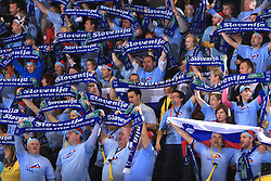 Fans of Slovenia at handball match of 5th Round of qualifications for EHF Euro 2010 in Austria between National team of Slovenia vs Bulgaria, on November 30, 2008 in Velenje, Slovenia. (Photo by Vid Ponikvar / Sportida)