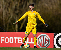 WREXHAM, WALES - Friday, March 26, 2021: Republic of Ireland's goalkeeper Brian Maher during an Under-21 international friendly match between Wales and Republic of Ireland at Colliers Park. Republic of Ireland won 2-1. (Pic by David Rawcliffe/Propaganda)