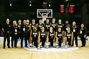 Team New Zealand pose for a team photo. U19 Basketball World Championship, New Zealand v Argentina ,North Shore Events Centre, Auckland. 2 July 2009. Photo: Anthony Au-Yeung/PHOTOSPORT