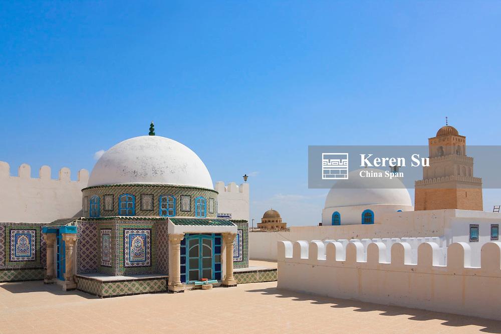 Dome architecture with mosaic decoration, Kairouan, Tunisia