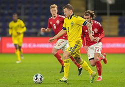 Mattias Johansson (Sverige) under venskabskampen mellem Danmark og Sverige den 11. november 2020 på Brøndby Stadion (Foto: Claus Birch).