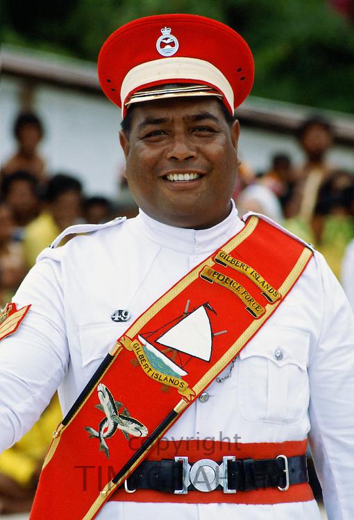 Kiribati policeman, Kiribati.