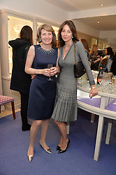 Left to right, KIKI McDONOUGH and VICTORIA CATOR at a preview of the latest collections by jewellery designer Kiki Mcdonough and fashion label Beulah held at Kiki McDonough Jewellery, 12 Symons Street, London on 5th March 2014.