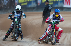 May 12, 2018 - Warsaw, Poland - Tai Woffinden (GBR), Przemyslaw Pawlicki (POL) during 1st round of Speedway World Championships Grand Prix Poland in Warsaw, Poland, on 12 May 2018. (Credit Image: © Foto Olimpik/NurPhoto via ZUMA Press)
