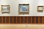 Painting by Sisley, Corot and Renoir 'La Moulin de la Galette Study 1875-76' in French Gallery, Ordrupgaard Art Museum, Denmark