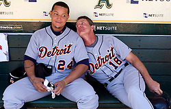 Miguel Cabrera and Andy Van Slyke, 2009