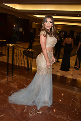 Abi Clarke at The Asian Awards, The Hilton Park Lane, London England. 5 May 2017.<br /> Photo by Dominic O'Neill/SilverHub 0203 174 1069 sales@silverhubmedia.com
