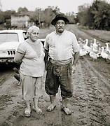 Rural farm couple, Pampas District, Argentina
