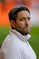 Football - 2021 / 2022 EFL Carabao Cup - Round Two - Blackpool vs. Sunderland -Bloomfield Road - Tuesday 24th August 2021<br /> <br /> Sunderland head coach Lee Johnson before the game, at Bloomfield Road.<br /> <br /> COLORSPORT/Alan Martin