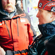 Jen Calder figures out a game plan for the morning bombing run at JHMR.