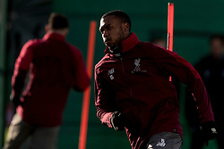 LIVERPOOL, ENGLAND - Monday, February 18, 2019: Liverpool's Daniel Sturridge during a training session at Melwood ahead of the UEFA Champions League Round of 16 1st Leg match between Liverpool FC and FC Bayern München. (Pic by Paul Greenwood/Propaganda)