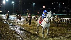 Cousin Dubai com a condução de L.Conceição vence o páreo de 1.600m para produtos de 4 anos vitórias com o tempo de 1m49s. FOTO: Jefferson Bernardes/ Agência Preview