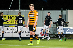 Falkirk's Bob McHugh celebrates after scoring their fourth goal. <br /> Falkirk 5 v 0 Alloa Athletic, Scottish Championship game played at The Falkirk Stadium. © Ross Schofield