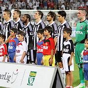 Besiktas's Team and during their Turkish Superleague soccer match Besiktas between SB Elazigspor at BJK Inonu Stadium in Istanbul Turkey on Monday, 17 September 2012. Photo by TURKPIX