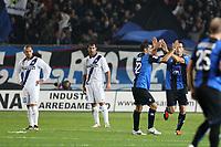 """Esultanza German Denis<br /> Celebration<br /> Bergamo 26/10/2011 Stadio """"Atleti Azzuri d'Italia""""<br /> Football Calcio Serie A 2011-12<br /> Atalanta vs Inter<br /> Foto Insidefoto Paolo Nucci"""