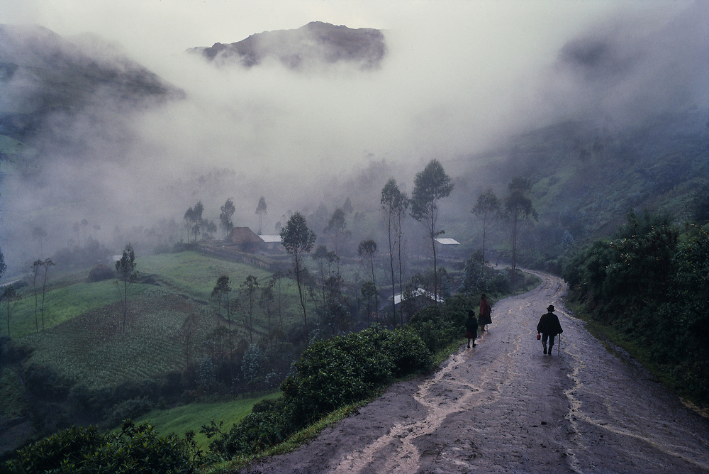 On the way home along a country road, after the Sunday Market at Zumbahua, Ecuador.