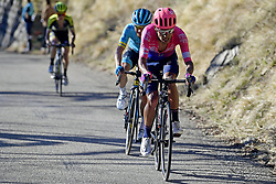 March 16, 2019 - Col De Turini, France - MARTINEZ POVEDA Daniel Felipe (COL) of EF EDUCATION FIRST and LOPEZ MORENO Miguel Angel (COL) of ASTANA PRO TEAM pictured during stage 7 of the 2019 Paris - Nice cycling race with start in Nice and finish in Col de Turini  on March 16, 2019 in Col De Turini, France, (Credit Image: © Panoramic via ZUMA Press)