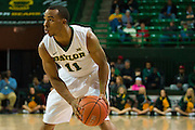 WACO, TX - DECEMBER 17: Lester Medford #11 of the Baylor Bears brings the ball up court against the New Mexico State Aggies on December 17, 2014 at the Ferrell Center in Waco, Texas.  (Photo by Cooper Neill/Getty Images) *** Local Caption *** Lester Medford
