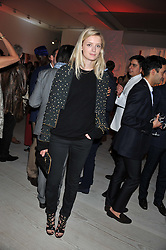 REBECCA CORBIN-MURRAY at a party hosted by Ines de la Frassange and Bruno Frisoni for Roger Vivier to launch the Roger Vivier book held at The Saatchi Gallery, London on 24th April 2013.