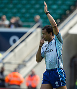"Twickenham, Surrey United Kingdom. Referee, Richard HAUGHTON. ""Blow Up"" during the ""2017 HSBC London Rugby Sevens"",  Sunday 21/05/2017 RFU. Twickenham Stadium, England    <br /> <br /> [Mandatory Credit Peter SPURRIER/Intersport Images]"
