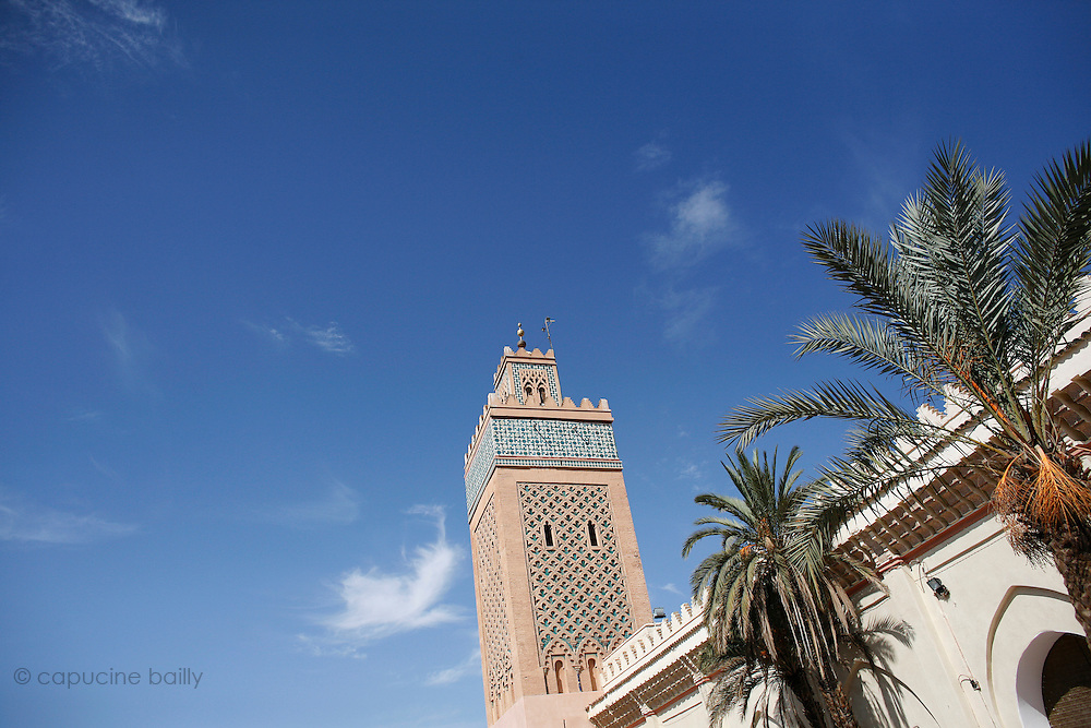 Marrakesh, Morocco. October 10th 2008..The Sidibouzid minaret...