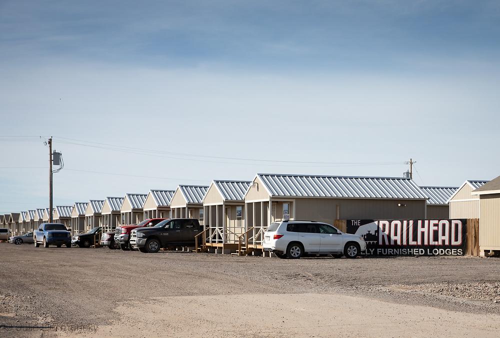 Man camp in Pecos, Texas in the Permain Basin.