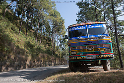 Typically painted Nepalese truck on day-2 of our Himalayan Heroes adventure riding from Daman to Chitwan, Nepal. Wednesday, November 7, 2018. Photography ©2018 Michael Lichter.