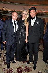 Left to right, ALDO ZILLI, TAMARA BECKWITH and GIORGIO VERONI at a birthday dinner for Claire Caudwell for family & friends held at The Dorchester, Park Lane, London on 24th January 2014.