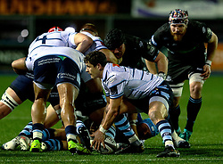 Lloyd Williams of Cardiff Blues<br /> <br /> Photographer Simon King/Replay Images<br /> <br /> Guinness PRO14 Round 15 - Cardiff Blues v Glasgow Warriors - Saturday 16th February 2019 - Cardiff Arms Park - Cardiff<br /> <br /> World Copyright © Replay Images . All rights reserved. info@replayimages.co.uk - http://replayimages.co.uk