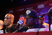 New York, NY- June 13 : (L-R) Hip Hop Recording Artist DMX and Hip Hop Recording Artist Jadakiss attend The ROCK THE BELLS FESTIVAL SERIES Press Conference and Launch Party produced in association with Boost Mobile and Guerrilla Union powered by Blackberry held at the Santos Party House on June 14, 2012 in New York City. Established in 2000, Guerilla Union has developed into one of the premiere core urban lifestyle brands in the U.S., manifesting itself in many forms including music, events, media and fashion. Guerilla Union's mission is to create experiential platforms, unique content and provide services that develop artists and their communities. (Photo by Terrence Jennings)