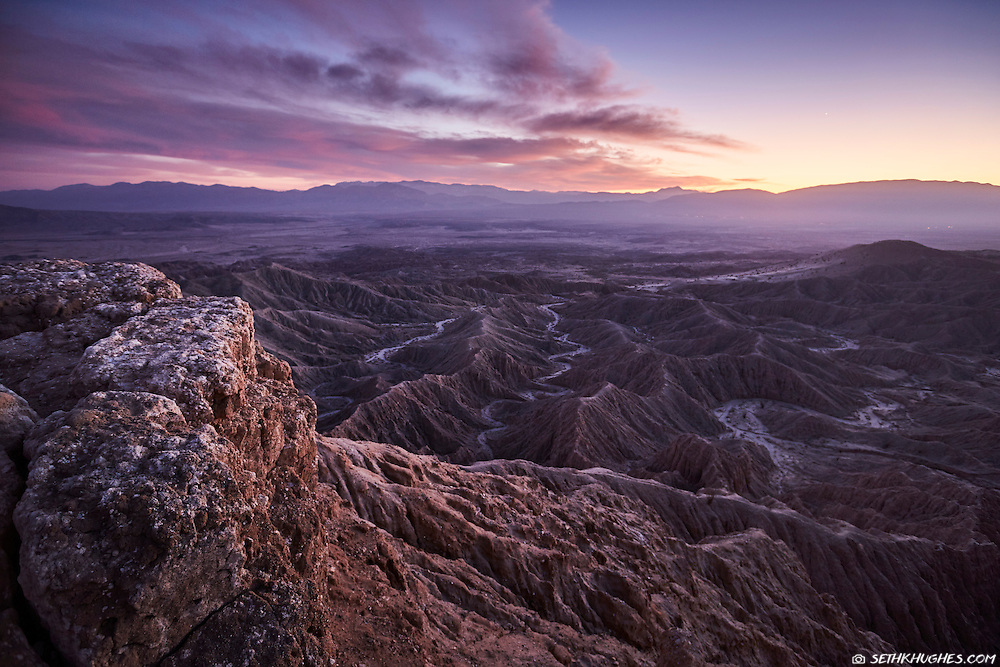 The view from Font's Point in Anza Borrego State Park, California.