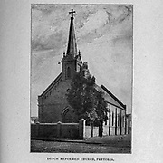 Dutch Reformed Church, Pretoria from the book ' Boer and Britisher in South Africa; a history of the Boer-British war and the wars for United South Africa, together with biographies of the great men who made the history of South Africa ' By Neville, John Ormond Published by Thompson & Thomas, Chicago, USA in 1900