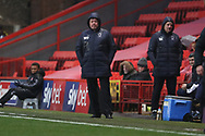 AFC Wimbledon manager Wally Downes watching from the touchline during the EFL Sky Bet League 1 match between Charlton Athletic and AFC Wimbledon at The Valley, London, England on 15 December 2018.