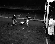 01/11/1970<br /> 11/01/1970<br /> 1 November 1970<br /> All-Ireland Under-21 Hurling Final: Cork v Wexford at Croke Park, Dublin.<br /> The score that baffled the crowd (and some of the officials) : Cork's B. Cummins flashed in the ball, losing his stick, but checking up a second goal for the winners, as P. Cox, Wexford goalie, fails to stop him.