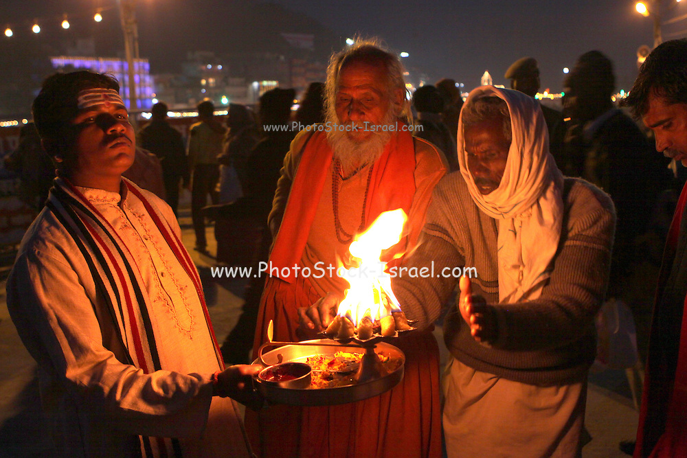 India, Uttarakhand, Haridwar. The Kumbh Mela Pilgrimage.
