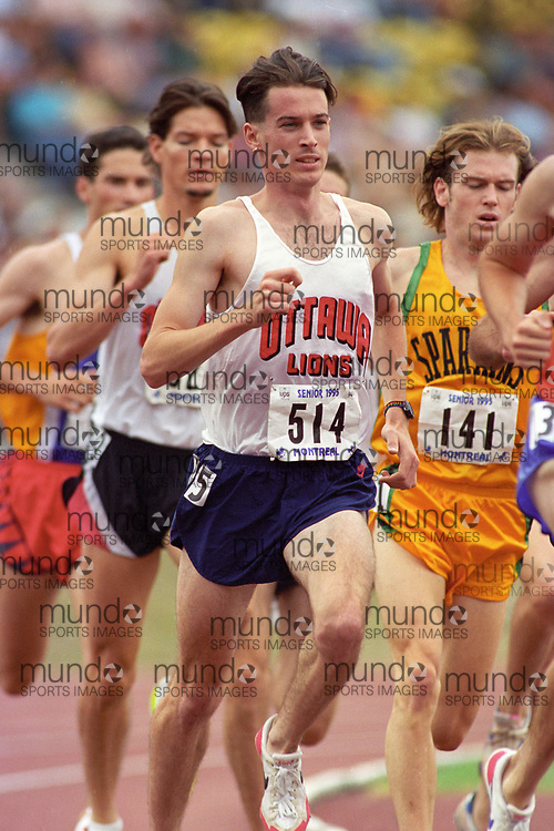 (Montreal, Canada---28 July 1995) Rob Cunningham races in the 1500m at the 1995 Canadian National Track and Field Championships. Photo 1995 Copyright Sean Burges / Mundo Sport Images.