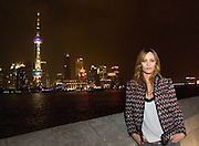 EXCLUSIVE - Vanessa Paradis poses for a photograph in front of the Oriental TV Tower and the Pudong skyline, considered the symbol of Shanghai, at Chanel Fashion Show in Shanghai, on December 3, 2009. Photo by Lucas Schifres/Pictobank